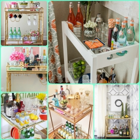 Bar Cart Collage